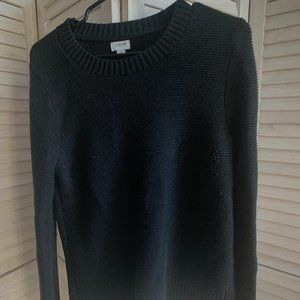 J. Crew Factory Textured Pullover Sweater (black)